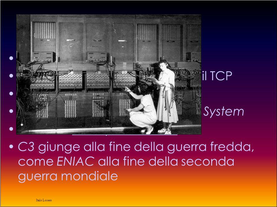 Italo Losero 1976 BBN sviluppa i primi router AT&T e Bell Atlantic sviluppano il protocollo UUCP (Unix to Unix Copy) La regina Elisabetta II di Inghilterra spedisce una email il 26 marzo dalla sede del Royal Signals and Radar Establishment (RSRE) a Malvern Viene introdotto il primo word processor ($ 30000) Dal manuale….