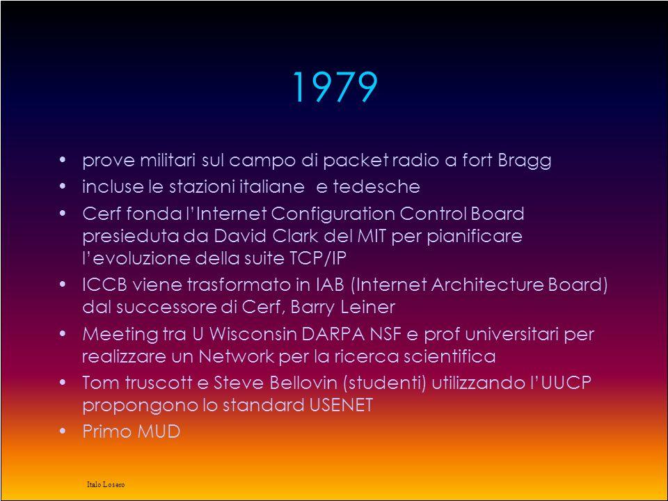 Italo Losero 1978 Definitiva lultima versione della Suite TCP/IP
