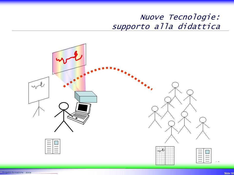 10 Progetto formazione - Aosta Slide 10 Nuove Tecnologie: supporto alla didattica