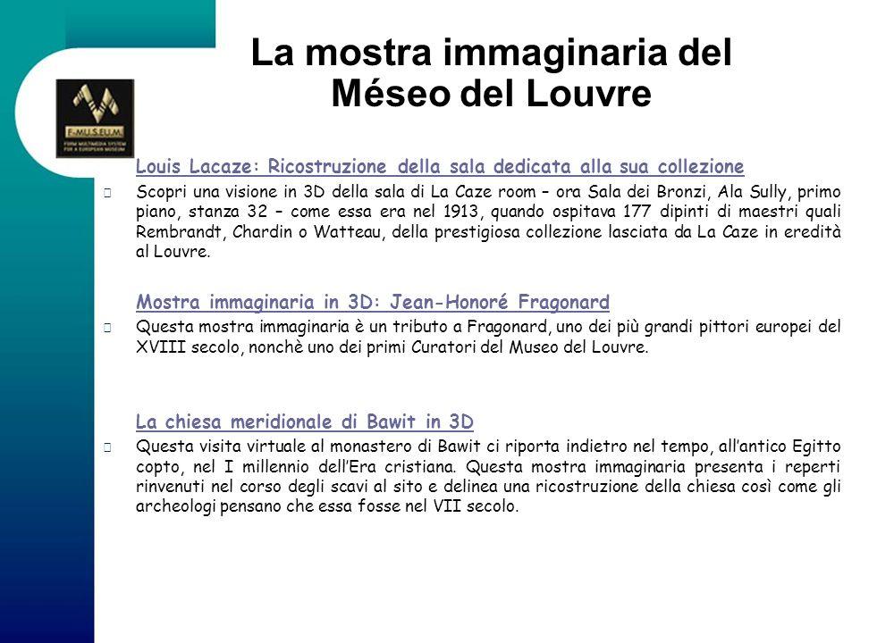La mostra immaginaria del Méseo del Louvre Louis Lacaze: Ricostruzione della sala dedicata alla sua collezione Louis Lacaze: Ricostruzione della sala