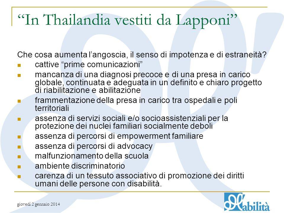 giovedì 2 gennaio 2014 In Thailandia vestiti da Lapponi Che cosa aumenta langoscia, il senso di impotenza e di estraneità.