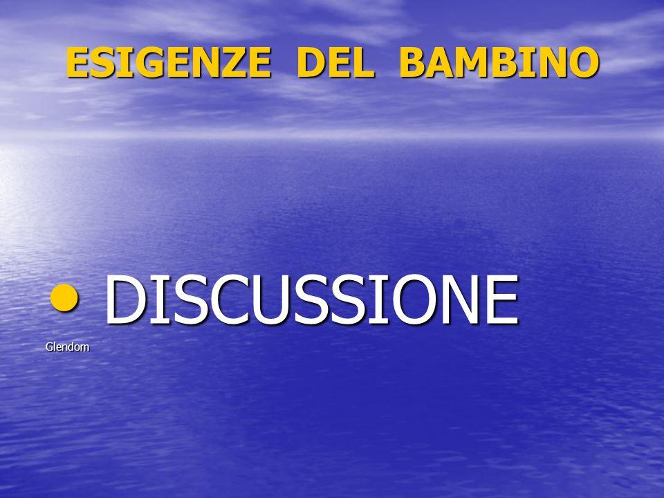 ESIGENZE DEL BAMBINO DISCUSSIONE DISCUSSIONEGlendom