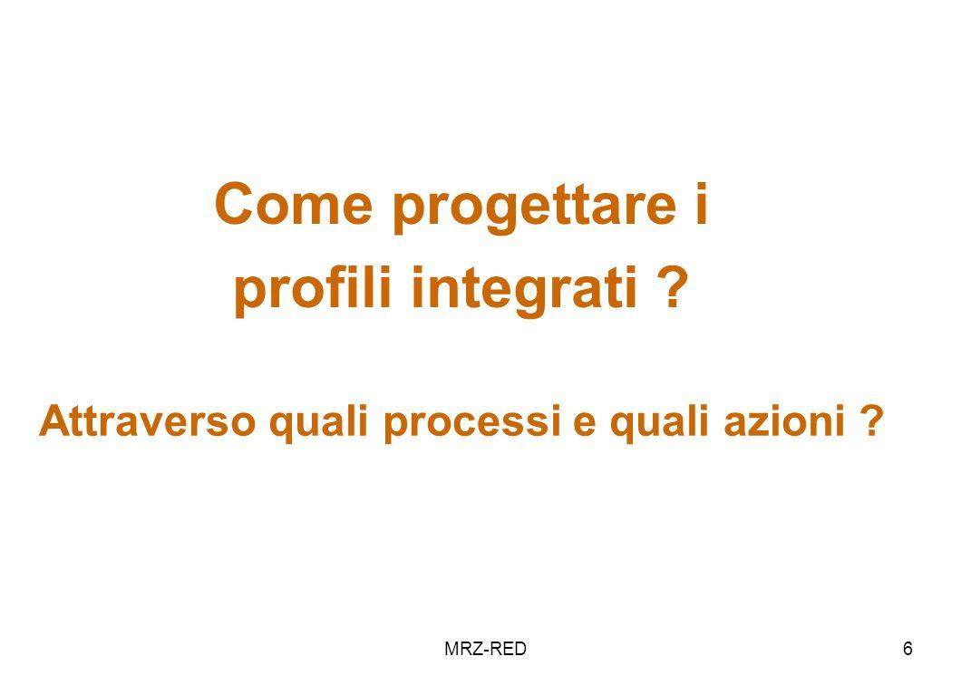 MRZ-RED6 Come progettare i profili integrati ? Attraverso quali processi e quali azioni ?