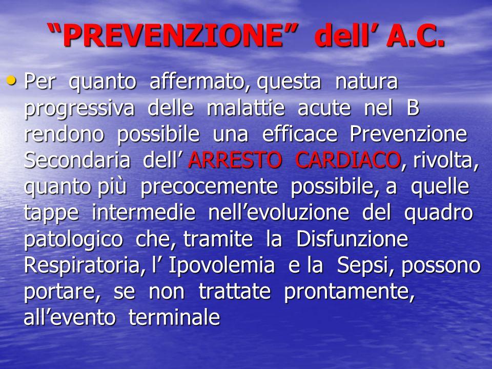 PREVENZIONE dell A.C. Per quanto affermato, questa natura progressiva delle malattie acute nel B rendono possibile una efficace Prevenzione Secondaria