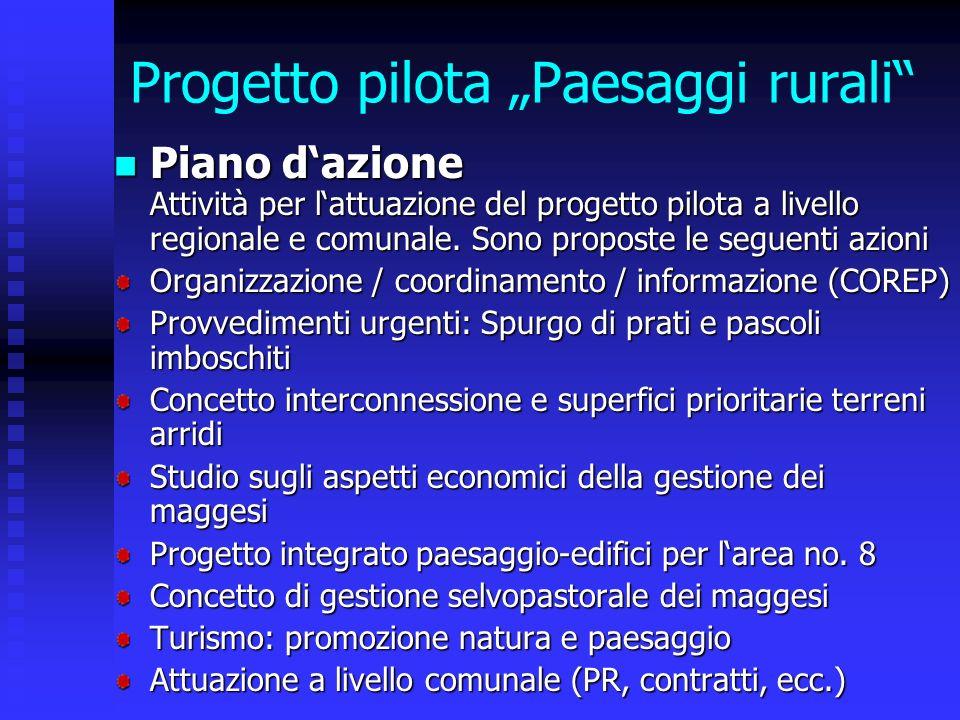 Progetto pilota Paesaggi rurali Piano dazione Attività per lattuazione del progetto pilota a livello regionale e comunale.