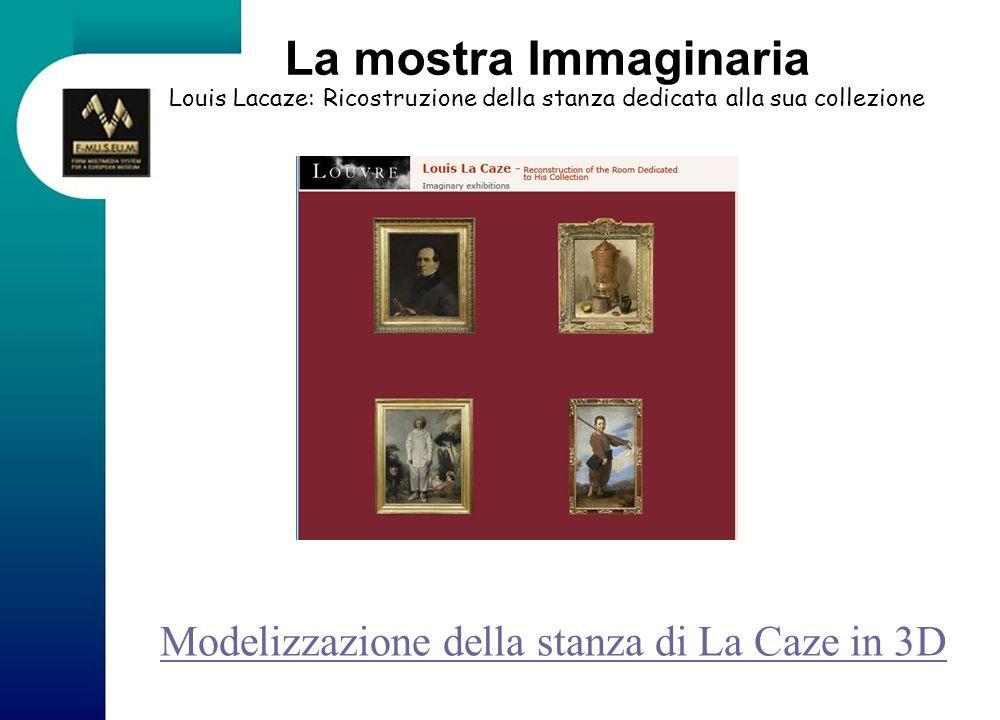 La mostra Immaginaria Louis Lacaze: Ricostruzione della stanza dedicata alla sua collezione Modelizzazione della stanza di La Caze in 3D