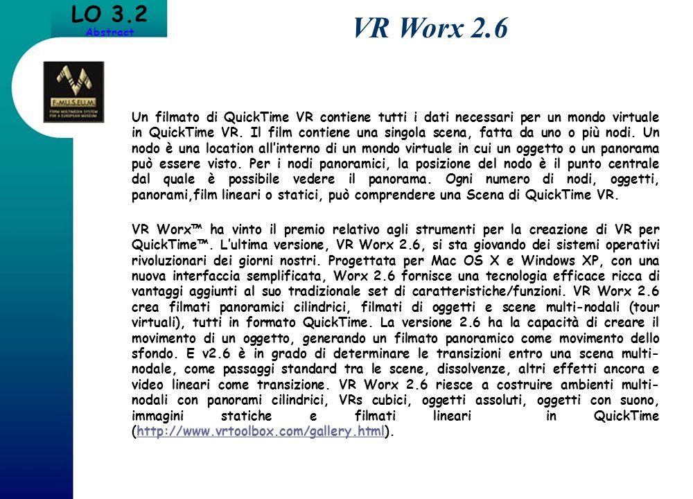 Un filmato di QuickTime VR contiene tutti i dati necessari per un mondo virtuale in QuickTime VR. Il film contiene una singola scena, fatta da uno o p