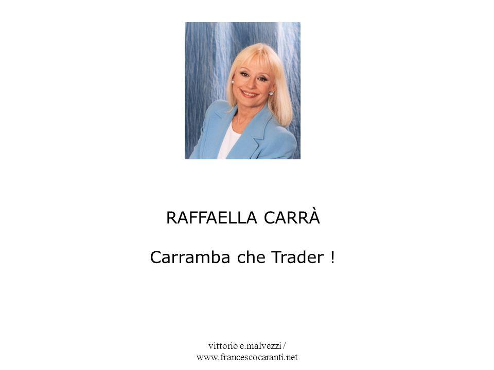 vittorio e.malvezzi / www.francescocaranti.net RAFFAELLA CARRÀ Carramba che Trader !