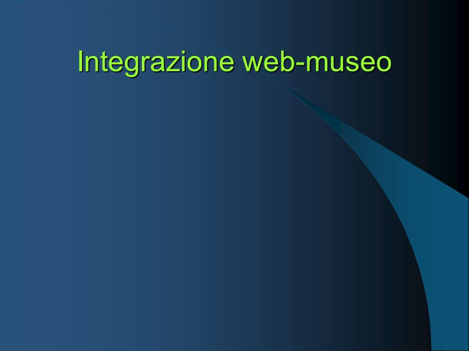 Integrazione web-museo