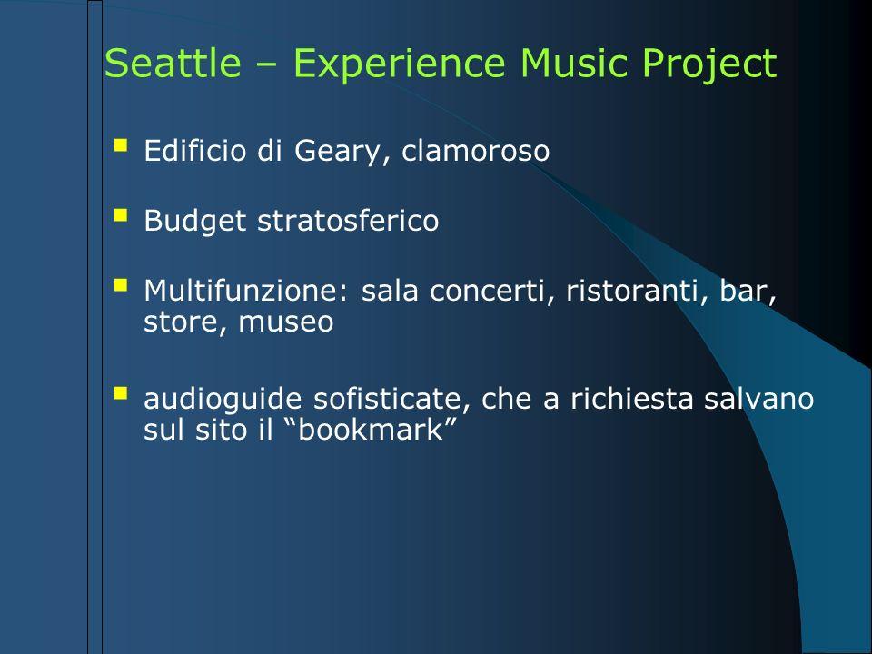 Seattle – Experience Music Project Edificio di Geary, clamoroso Budget stratosferico Multifunzione: sala concerti, ristoranti, bar, store, museo audio