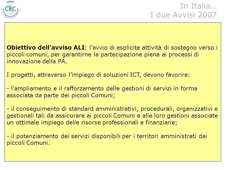 22/05/2007Miriam Tedeschi, CRC Veneto - CNIPA24... Nel 2007 sono stati pubblicati dal CNIPA due Avvisi in tema di sviluppo delle-government: - Lavviso