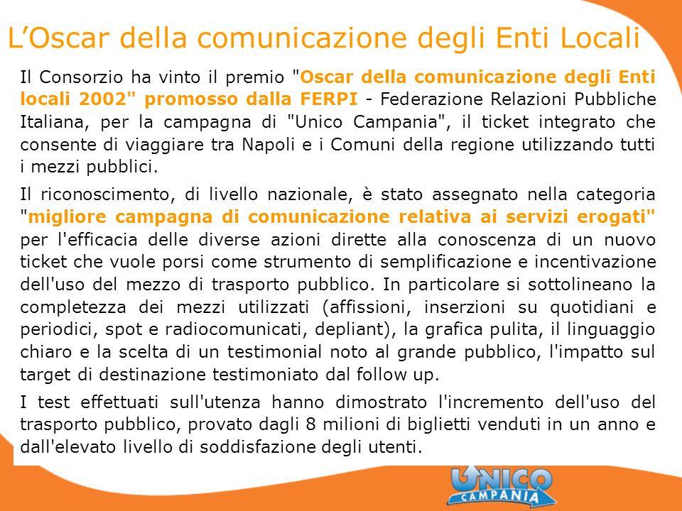 LOscar della comunicazione degli Enti Locali Il Consorzio ha vinto il premio
