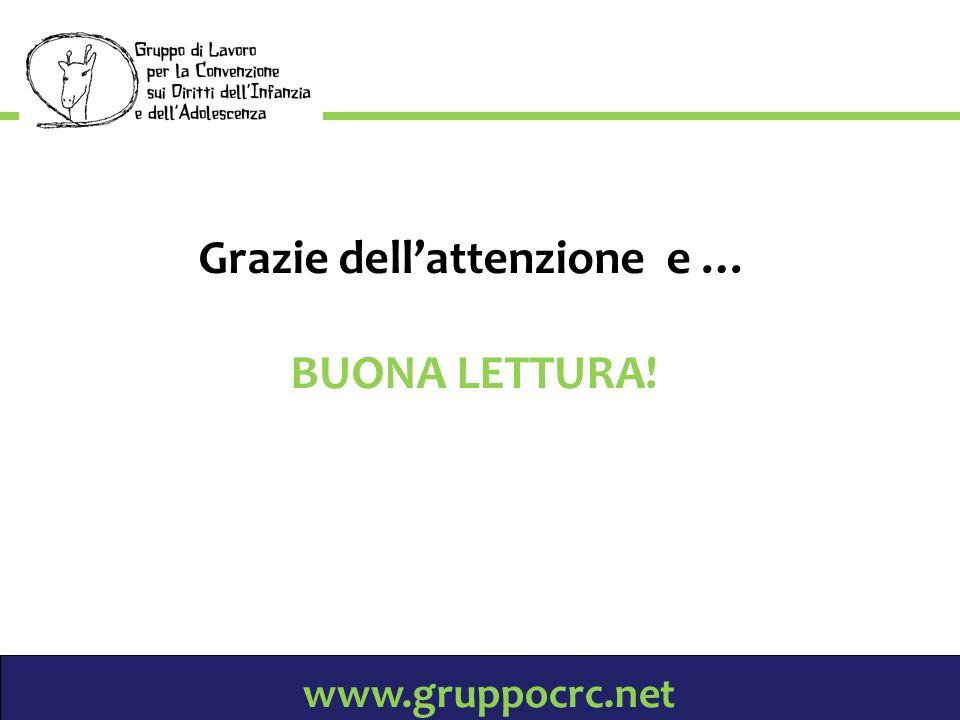 www.gruppocrc.net Grazie dellattenzione e … BUONA LETTURA!