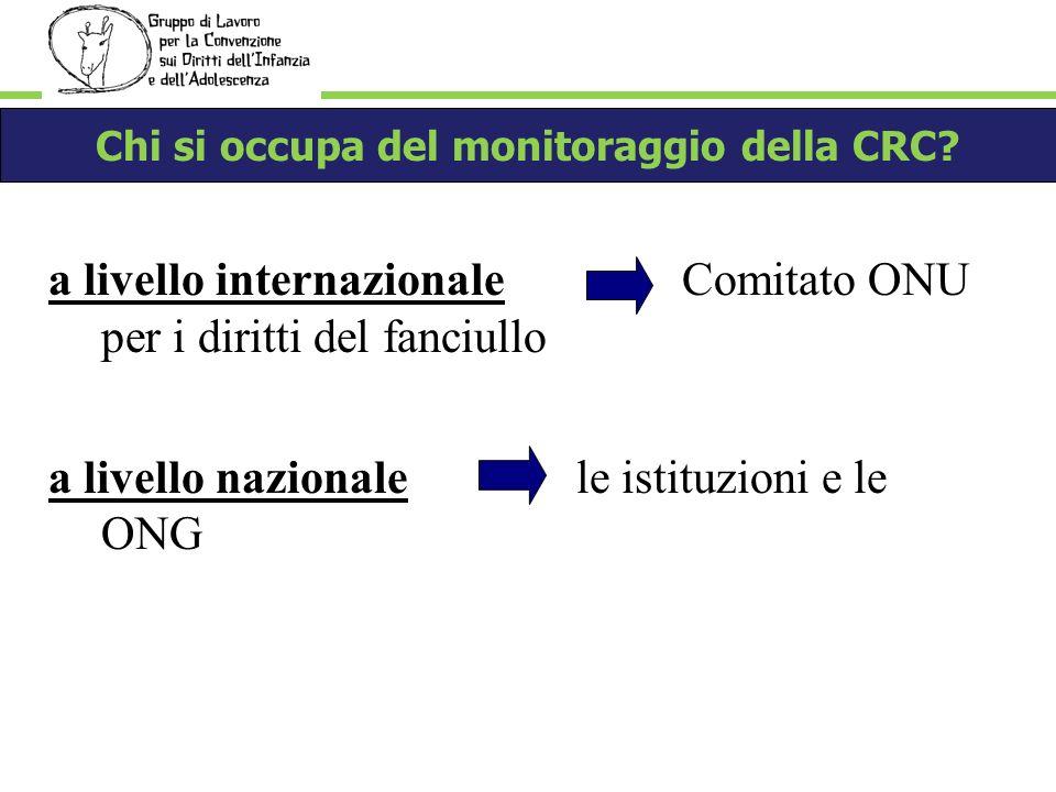 Chi si occupa del monitoraggio della CRC.