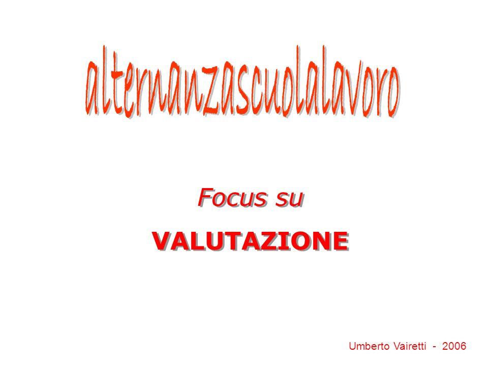Focus su VALUTAZIONE Focus su VALUTAZIONE Umberto Vairetti - 2006