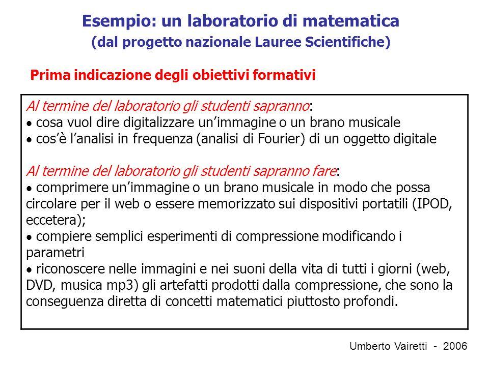 QUALI STANDARD QUALI INDICATORI QUALI SCALE DI MISURA Umberto Vairetti - 2006 …quindi…