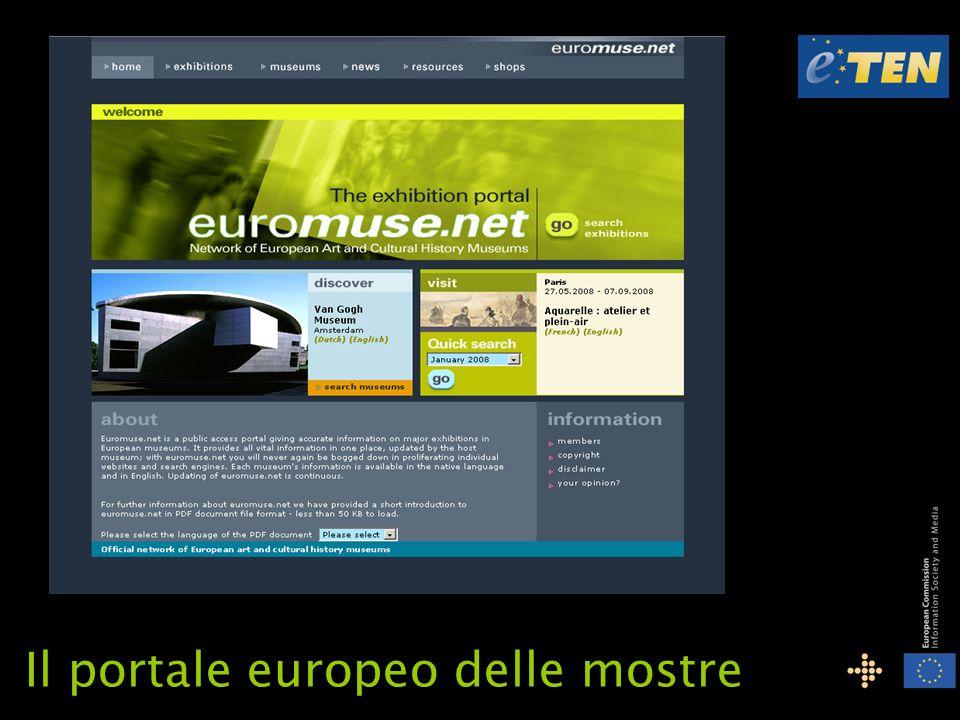 È una collaborazione europea nel settore dei musei e del turismo È un progetto sostenuto finanziariamente dalla Commissione Europea all interno del programma eTEN Finanziamenti UE: 900.000 su 3.000.000 di costo complessivo Durata del progetto: dal 01.01.2008 al 31.12.2010 euromuse.net