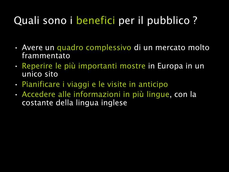 Quali sono i benefici per il pubblico .
