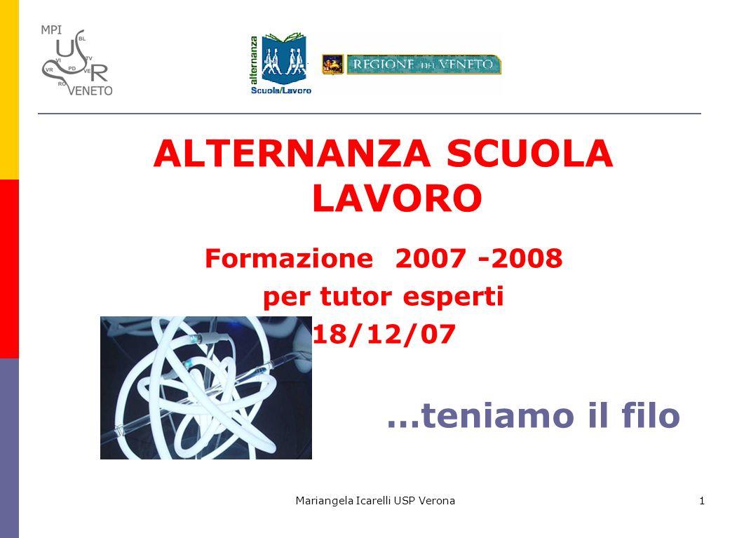 Mariangela Icarelli USP Verona12 Come si progetta un profilo per competenze.
