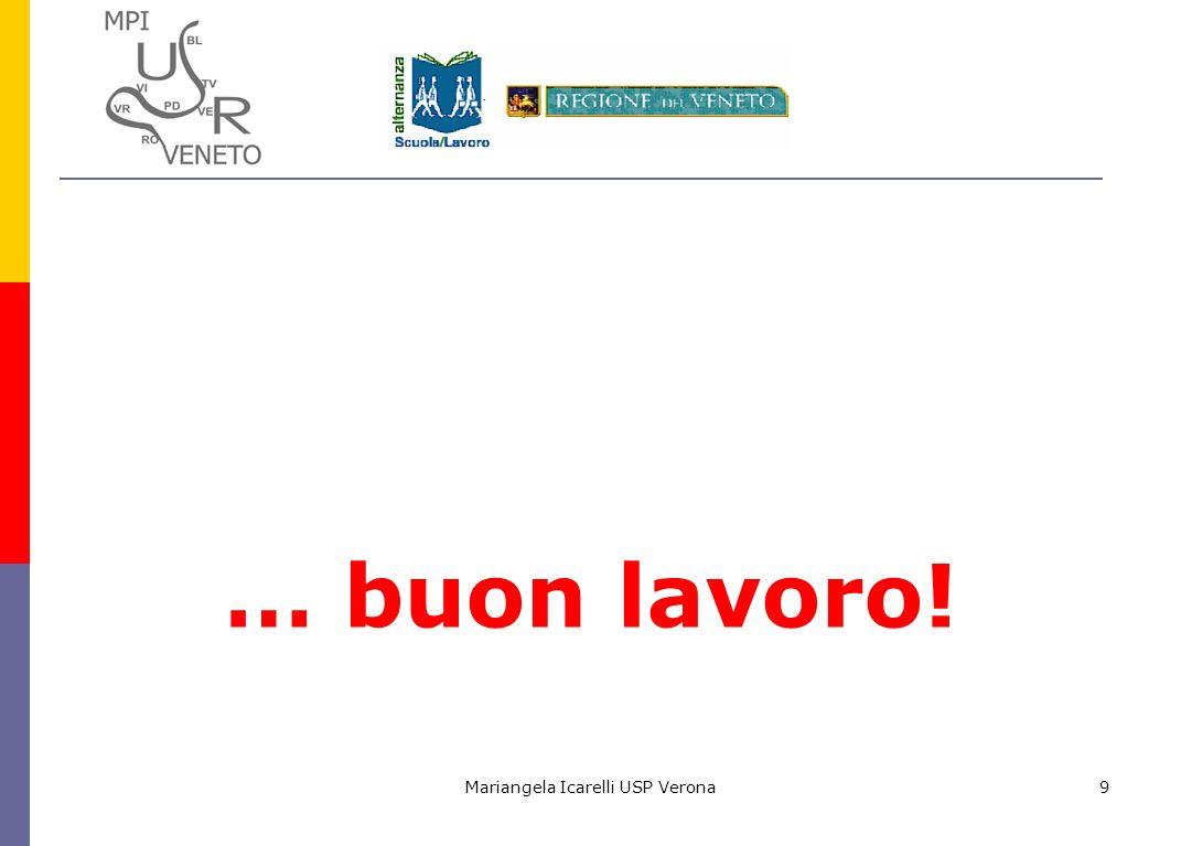 Mariangela Icarelli USP Verona9 … buon lavoro!