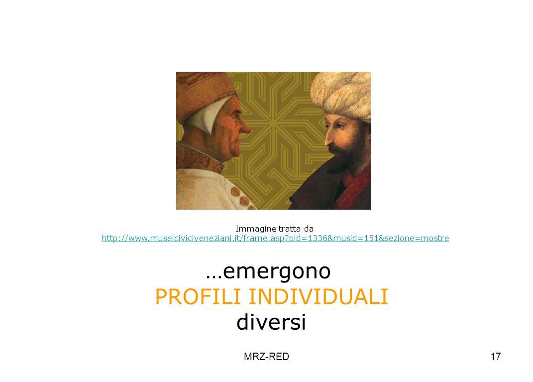 MRZ-RED17 Immagine tratta da http://www.museiciviciveneziani.it/frame.asp?pid=1336&musid=151&sezione=mostre Vvvvvvvvvvvv …emergono PROFILI INDIVIDUALI
