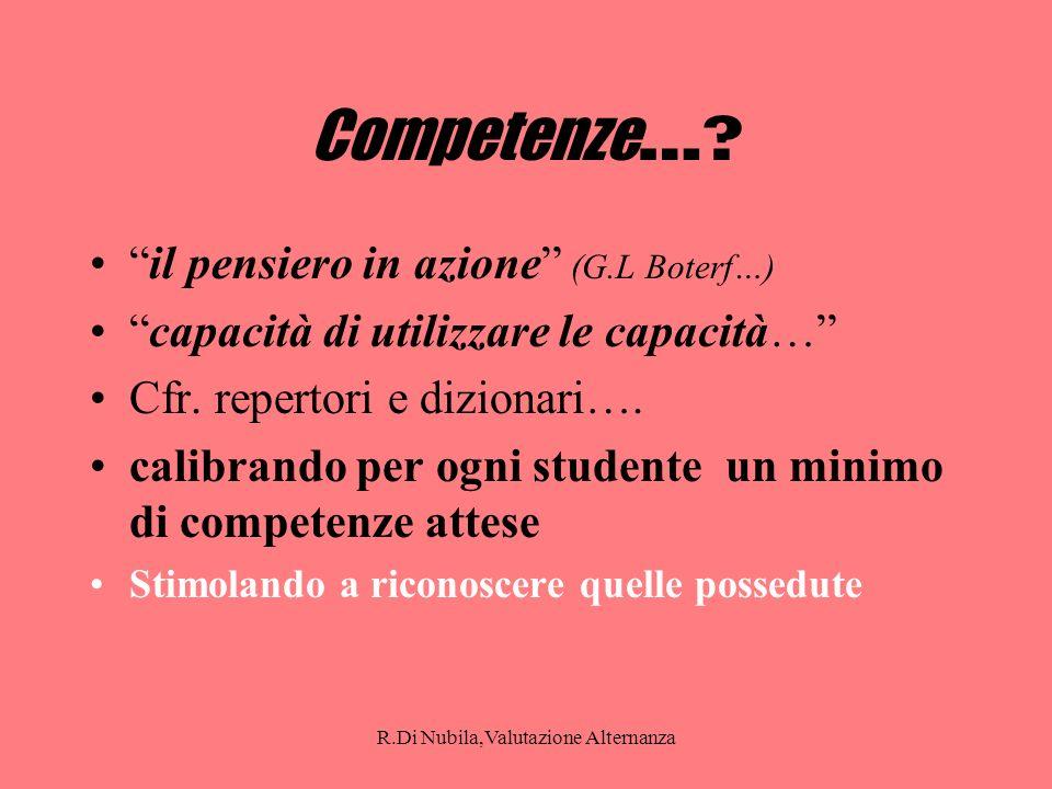 R.Di Nubila,Valutazione Alternanza Competenze ….