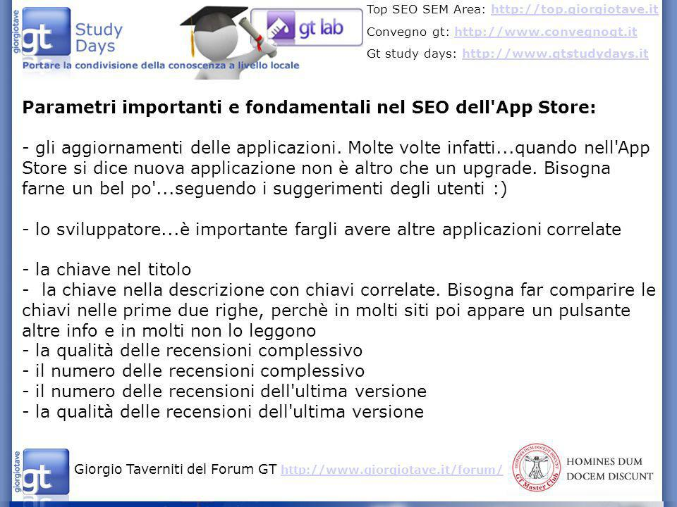 Giorgio Taverniti del Forum GT http://www.giorgiotave.it/forum/ http://www.giorgiotave.it/forum/ Top SEO SEM Area: http://top.giorgiotave.ithttp://top