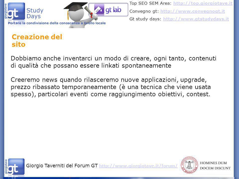 Giorgio Taverniti del Forum GT http://www.giorgiotave.it/forum/ http://www.giorgiotave.it/forum/ Top SEO SEM Area: http://top.giorgiotave.ithttp://top.giorgiotave.it Convegno gt: http://www.convegnogt.ithttp://www.convegnogt.it Gt study days: http://www.gtstudydays.ithttp://www.gtstudydays.it Ricerche tra chi fa Marketing per App (iphone) 1.