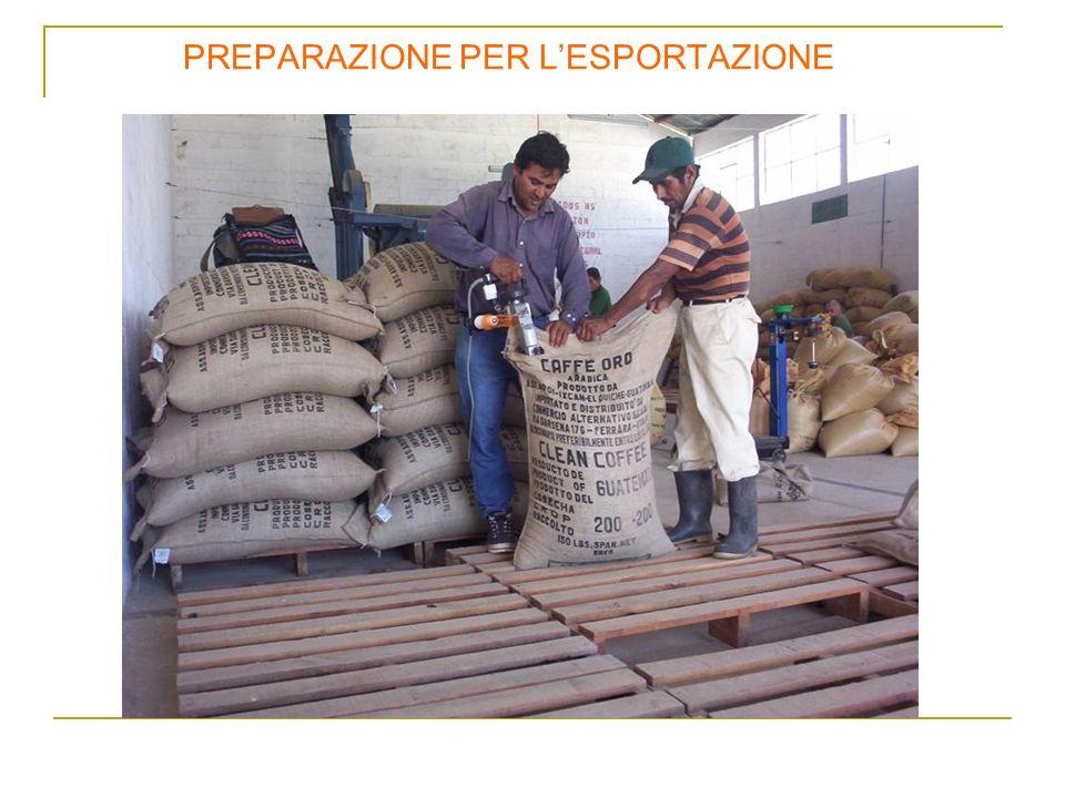 PREPARAZIONE PER LESPORTAZIONE