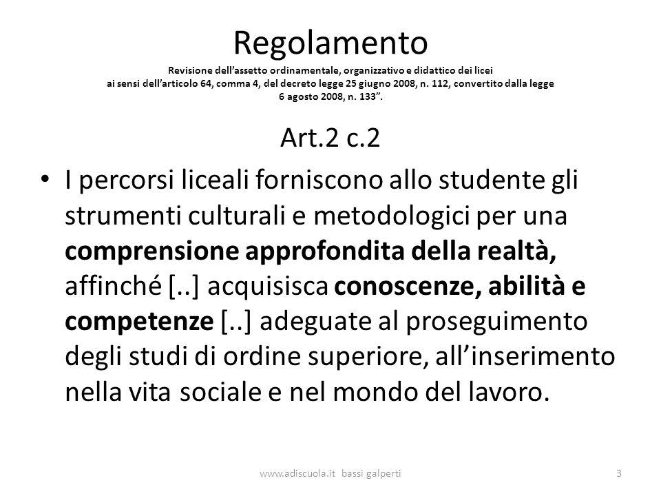 Sviluppo dellapprendimento www.adiscuola.it bassi galperti54