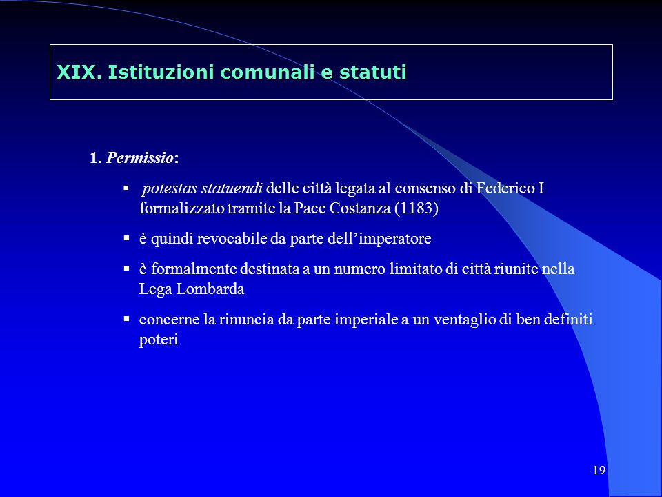 20 XIX.Istituzioni comunali e statuti 2.