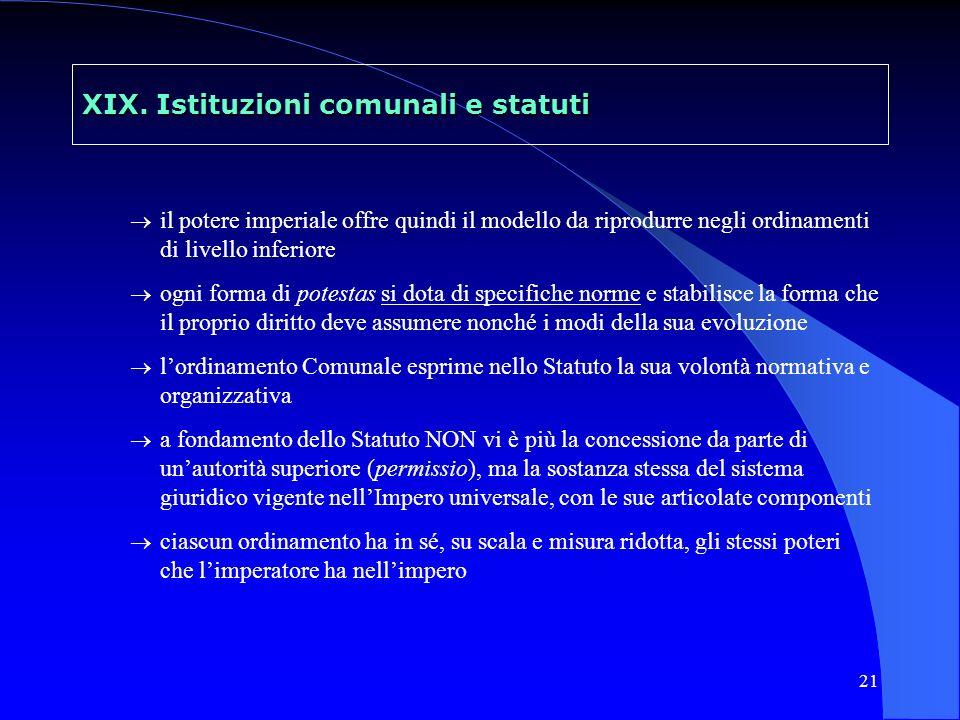 22 XIX.Istituzioni comunali e statuti 3.