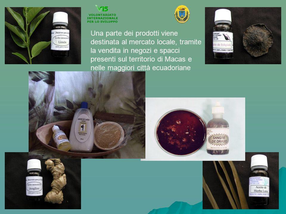 Una parte dei prodotti viene destinata al mercato locale, tramite la vendita in negozi e spacci presenti sul territorio di Macas e nelle maggiori citt