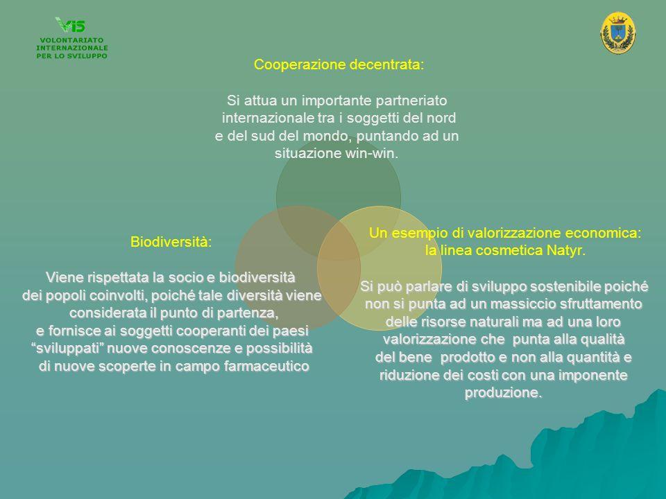 Cooperazione decentrata: Si attua un importante partneriato internazionale tra i soggetti del nord e del sud del mondo, puntando ad un situazione win-