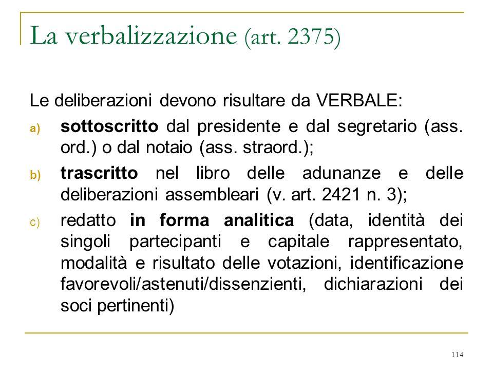 114 La verbalizzazione (art.