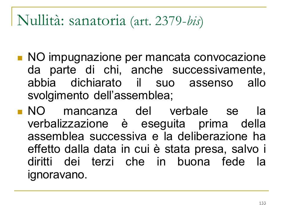 133 Nullità: sanatoria (art.