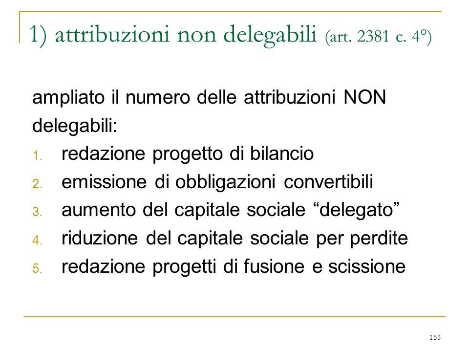 153 1) attribuzioni non delegabili (art.2381 c.