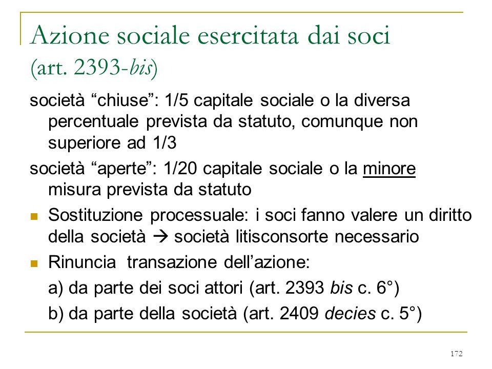 172 Azione sociale esercitata dai soci (art.