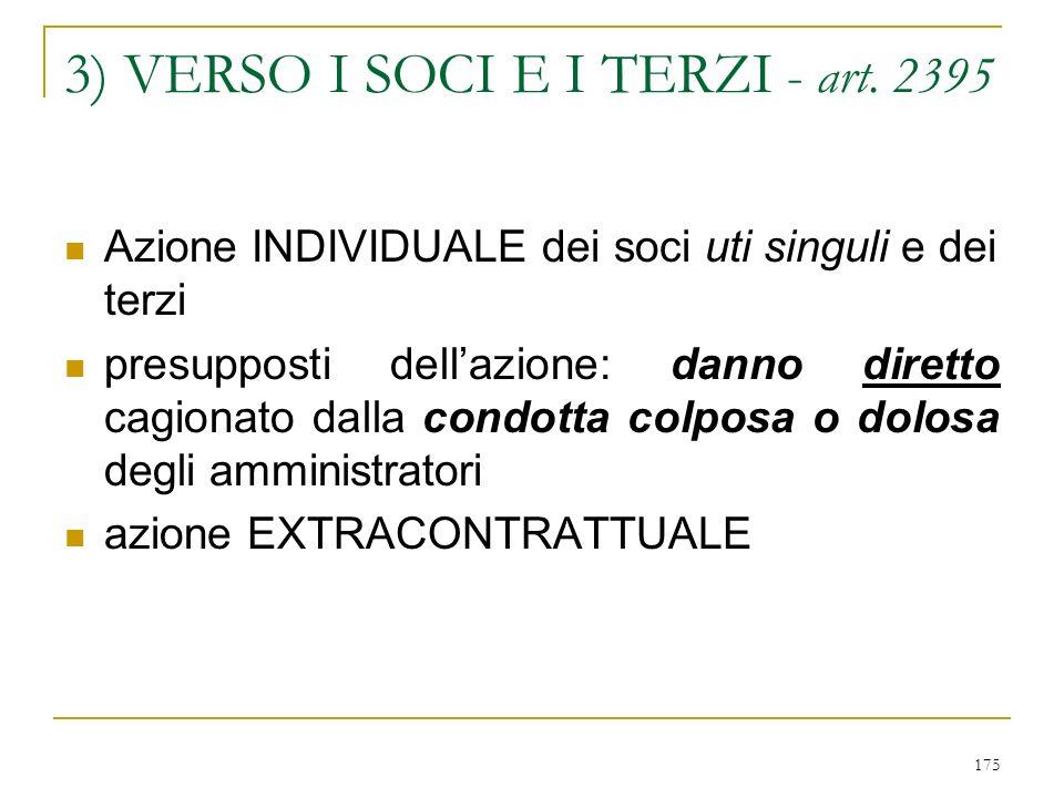 175 3) VERSO I SOCI E I TERZI - art.