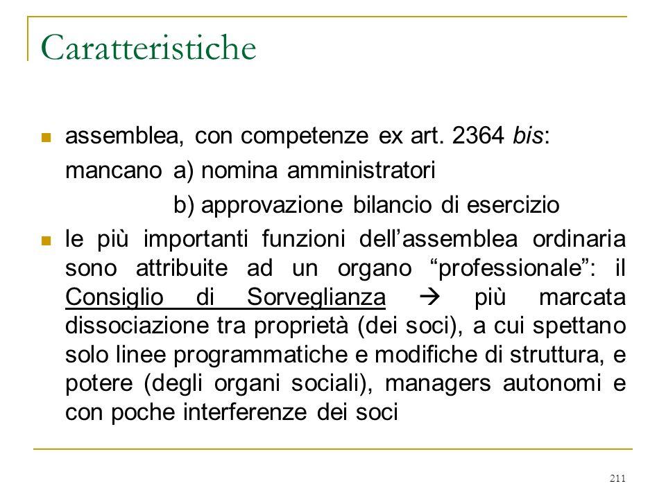 211 Caratteristiche assemblea, con competenze ex art.