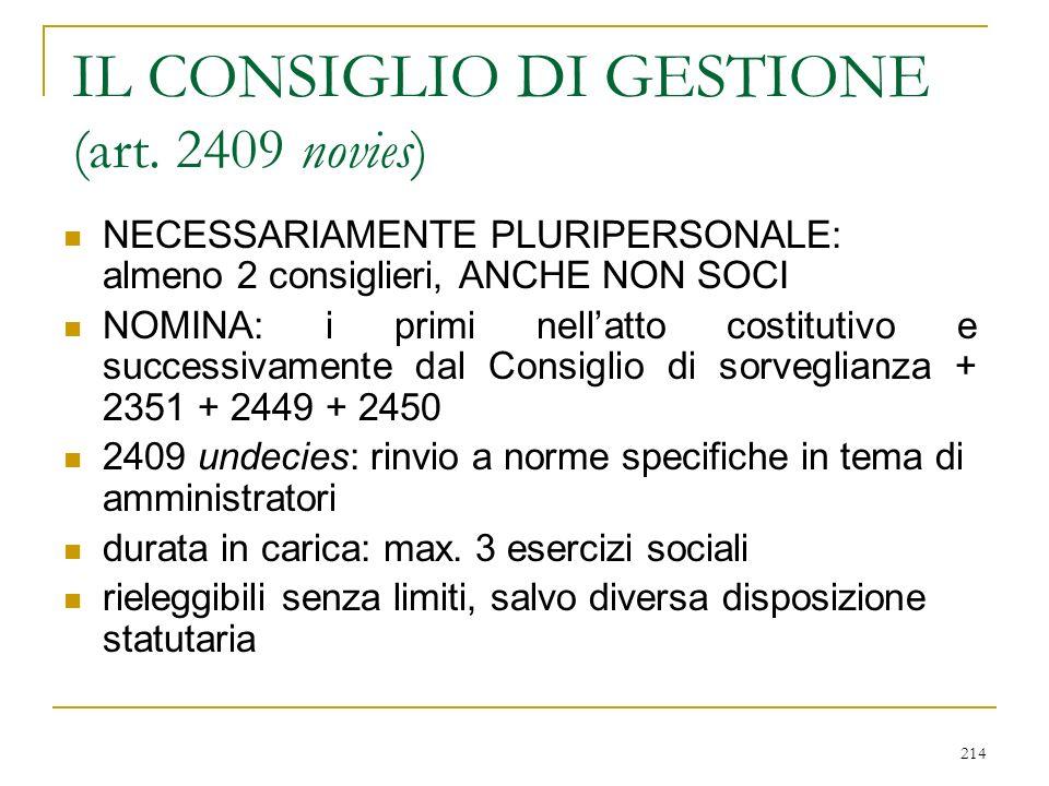 214 IL CONSIGLIO DI GESTIONE (art.