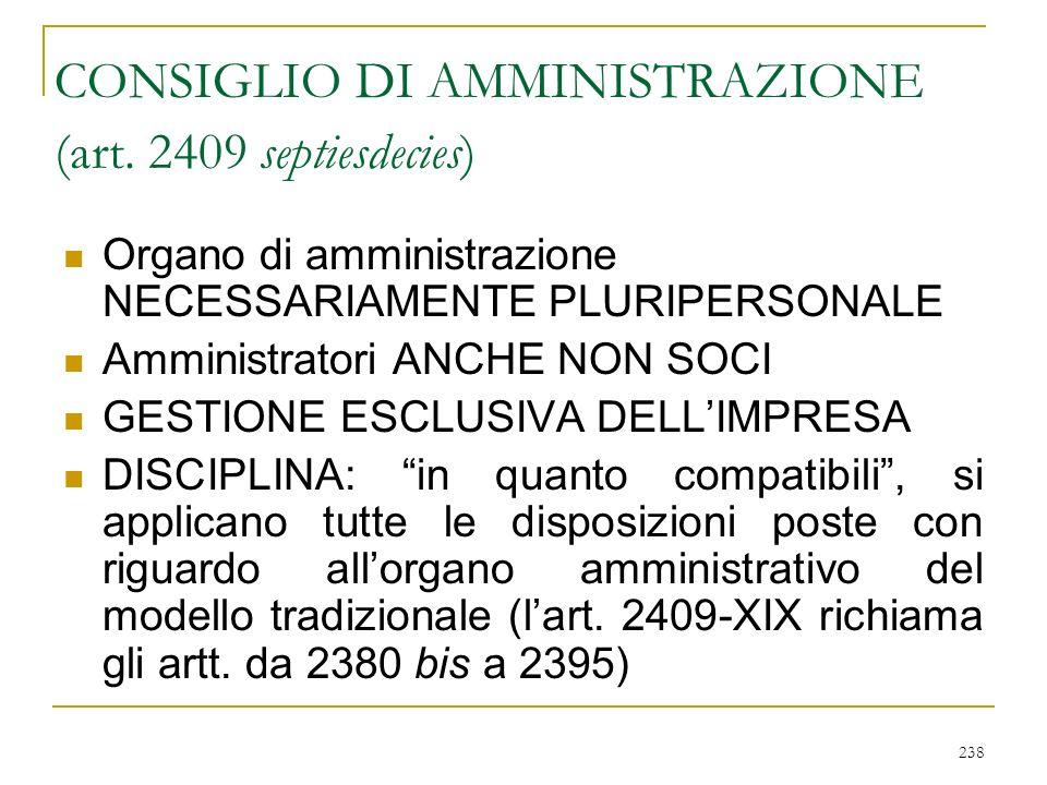 238 CONSIGLIO DI AMMINISTRAZIONE (art.