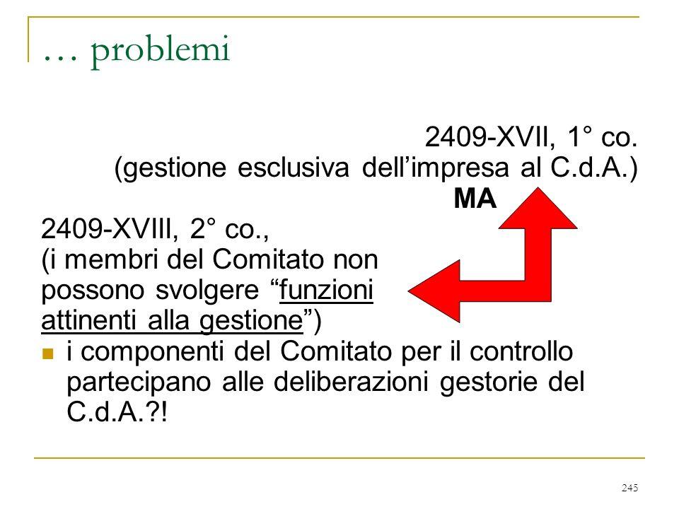 245 … problemi 2409-XVII, 1° co.