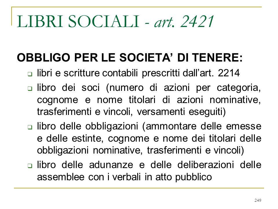 249 LIBRI SOCIALI - art.
