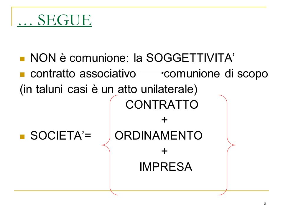 169 1) VERSO LA SOCIETA - art.