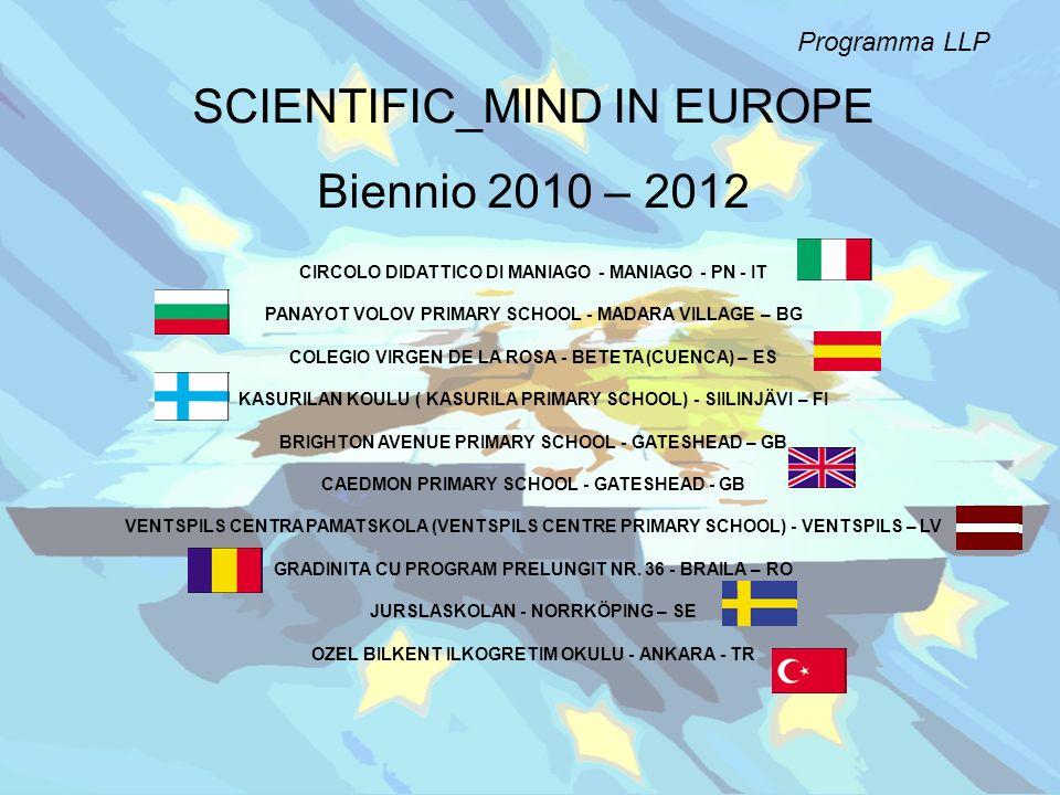 Programma LLP SCIENTIFIC_MIND IN EUROPE Biennio 2010 – 2012 CIRCOLO DIDATTICO DI MANIAGO - MANIAGO - PN - IT PANAYOT VOLOV PRIMARY SCHOOL - MADARA VIL