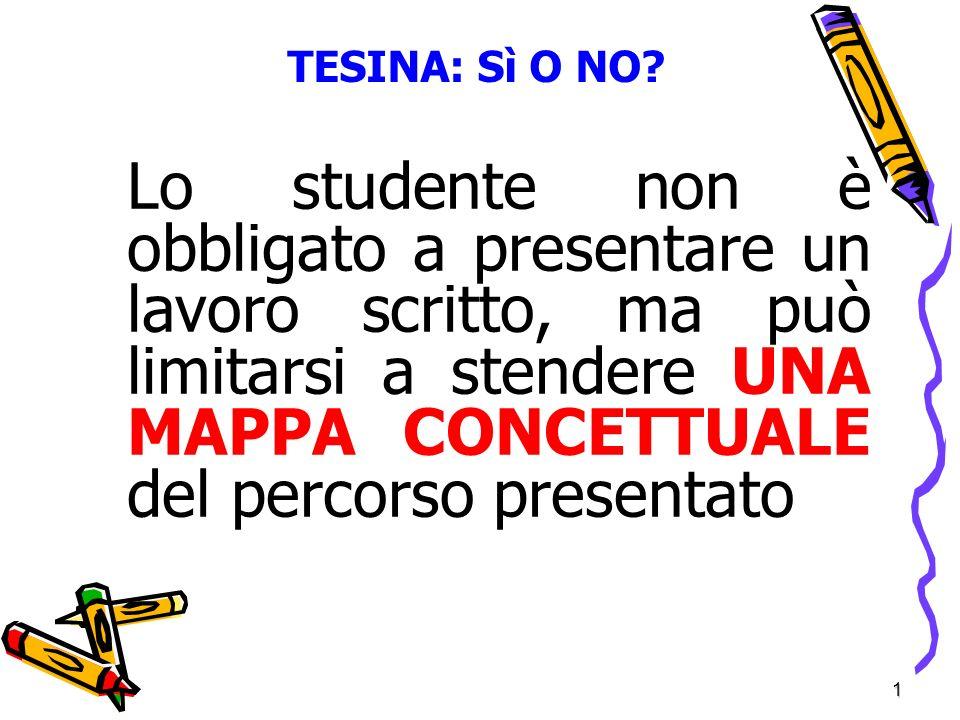 1 TESINA: Sì O NO.