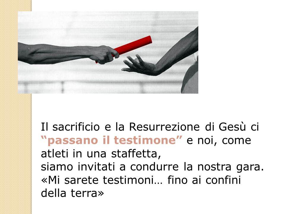 Il sacrificio e la Resurrezione di Gesù ci passano il testimone e noi, come atleti in una staffetta, siamo invitati a condurre la nostra gara. «Mi sar