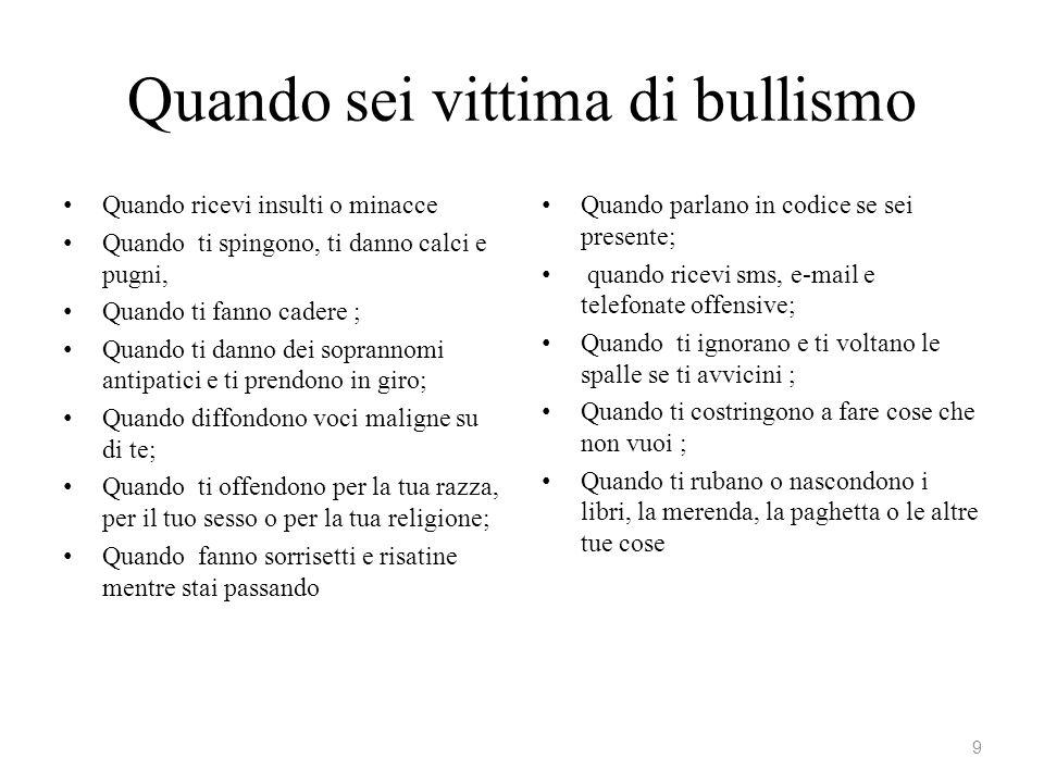 Un moderno San Francesco dal sito www.bullismo.it Anche io ho avuto paura: qualche consiglio Ciao a tutti, mi chiamo Andrea e ho 25 anni.