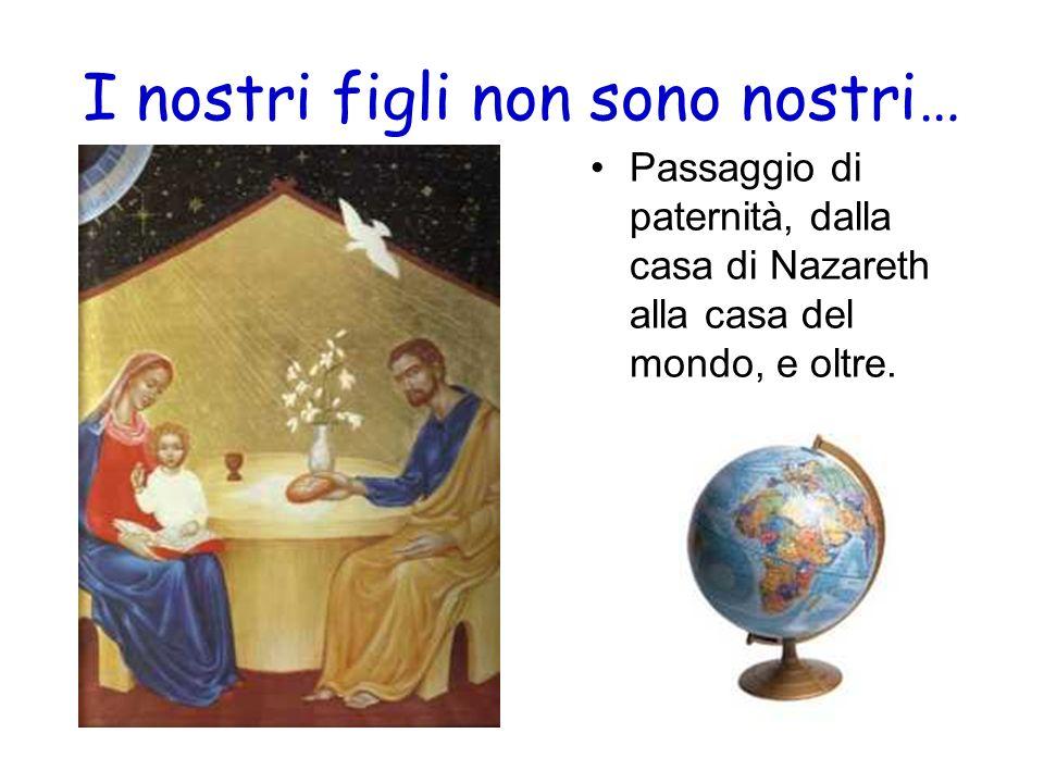 I nostri figli non sono nostri… Passaggio di paternità, dalla casa di Nazareth alla casa del mondo, e oltre.